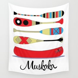 Muskoka Canoe Wall Tapestry