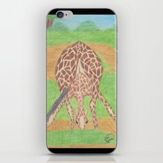 Yoga in Africa iPhone & iPod Skin