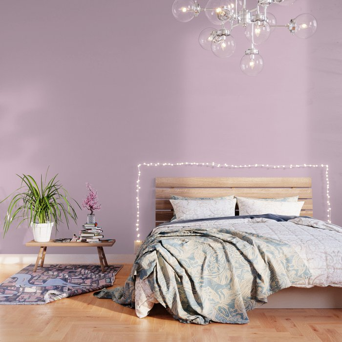 Pratt and Lambert 2019 Pink Lavender 30-3 Solid Color Wallpaper by  simplysolids