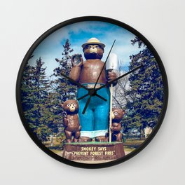 Retro Smokey Wall Clock