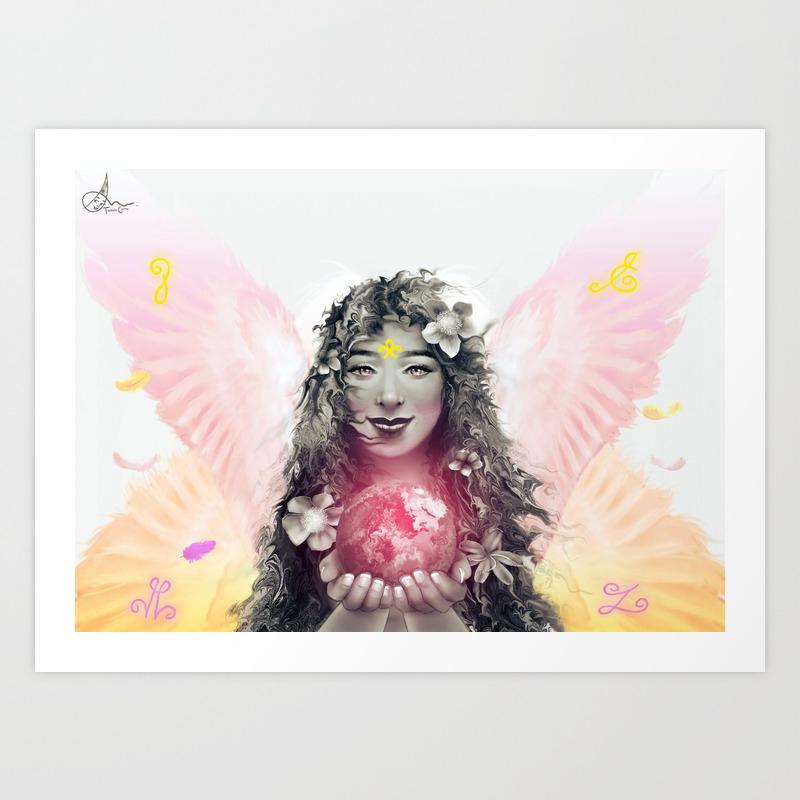 Archangel Ariel the Lioness of God Art Print