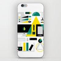 kit king iPhone & iPod Skins featuring Designer's Kit by koivo