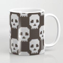 Knitted skull pattern Coffee Mug