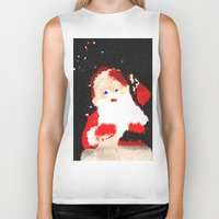 santa Biker Tanks featuring Santa  by Isa Fett
