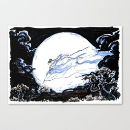 Lady of the Moon Canvas Print