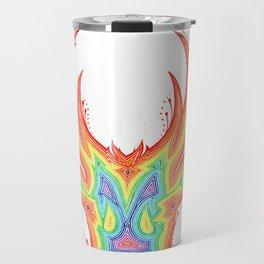Deer Color gradient painting Travel Mug