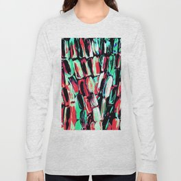 Teal Red Dreams of Sugarcane Long Sleeve T-shirt