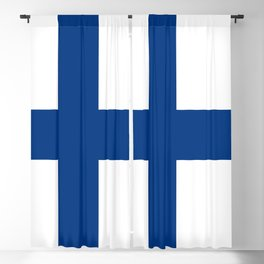Flag of Finland Blackout Curtain