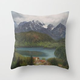 From the Castle Window Throw Pillow