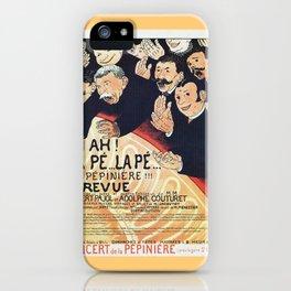 Paris 1895 Revue La Pepiniere iPhone Case
