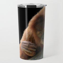 Smiling Young Orangutan Travel Mug
