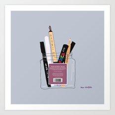 Pens & Pencils in a Jar Art Print