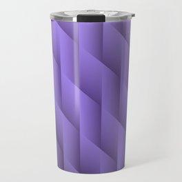 Gradient Purple Diamonds Geometric Shapes Travel Mug