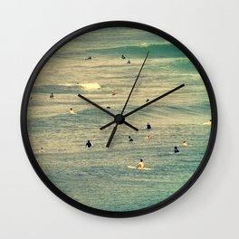 Maui Surfers Retro Wall Clock
