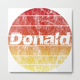 Name Donald in the sunset vintage sun Metal Print