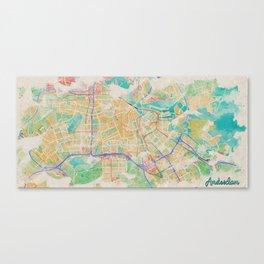 Amsterdam in Watercolor Canvas Print
