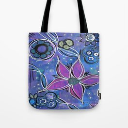 Purple Flowers Background Tote Bag