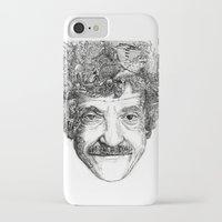vonnegut iPhone & iPod Cases featuring Kurt Vonnegut by Kazak