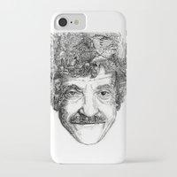 kurt rahn iPhone & iPod Cases featuring Kurt Vonnegut by Kazak