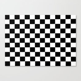 Checkered abstract background Canvas Print