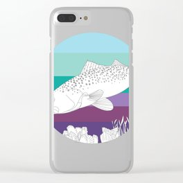 Speckl Trout Clear iPhone Case