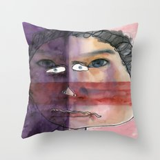I feel shy Throw Pillow