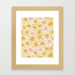bed of daisies Framed Art Print