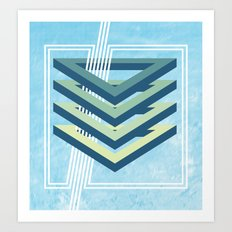 Four Triangles  Art Print