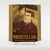 winchester Shower Curtains featuring Winchester & Sons by The Art of Nicole