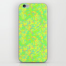 90's Neon Abstract Turtle Shells in Fluorescent Yellow iPhone Skin