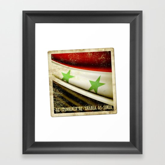 STICKER OF SYRIA flag Framed Art Print