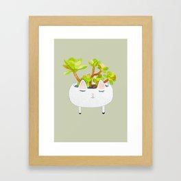 Kawaii succulents Framed Art Print