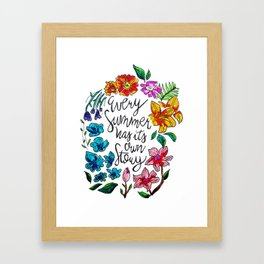 Every Summer Has Its Own Story Framed Art Print