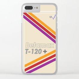 Betamax Clear iPhone Case