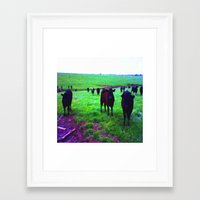 cows Framed Art Prints featuring Cows by 13th Moon Social Club