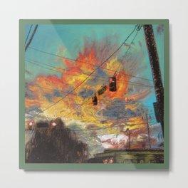 Explosive Sunset Metal Print