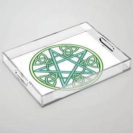 Celtic Pentacle Acrylic Tray
