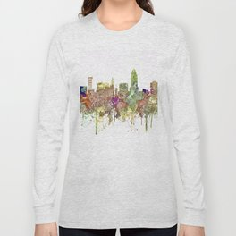 Lincoln, Nebraska Skyline - Faded Glory Long Sleeve T-shirt
