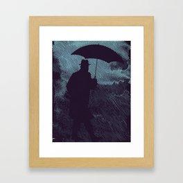 in the hardly rain Framed Art Print
