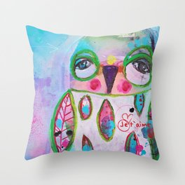Je t´aime chouette Throw Pillow