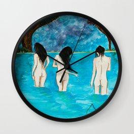 Raven Black Wall Clock