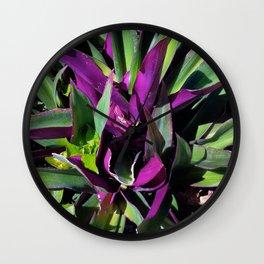 Purple and Green Wall Clock