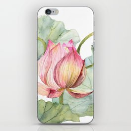 Lotus Metaphor for Feminine Beggining iPhone Skin