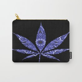 Weed : High Times Blue Floral Carry-All Pouch