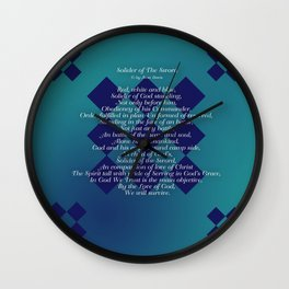 Solider of The Sword Wall Clock