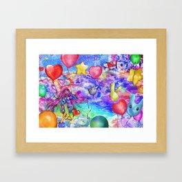 25 Balloons Framed Art Print