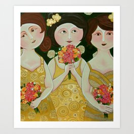 Bridesmaids Art Print