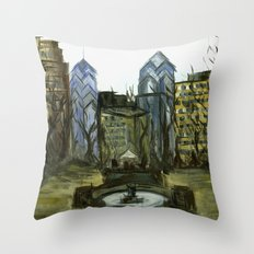 Rittenhouse Square in the Winter Throw Pillow