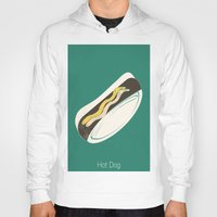 hot dog Hoodies featuring Hot Dog by Haina
