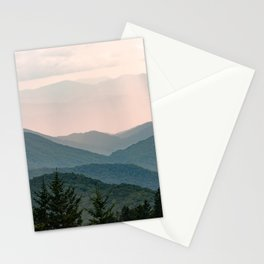 Smoky Mountain Pastel Sunset Stationery Cards